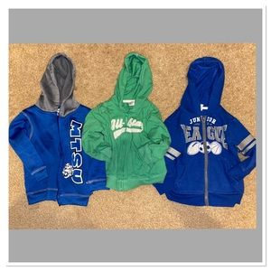 Bundle of 3 2T and 24 months boys jackets hoodies